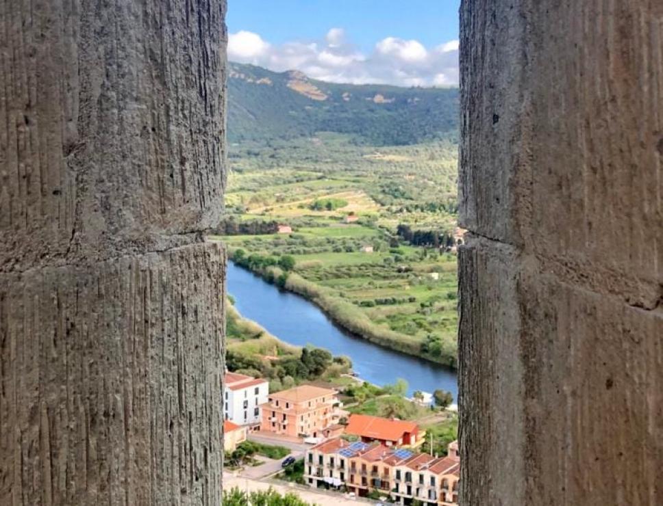 Veduta dal castello di Sarrevalle - Bosa