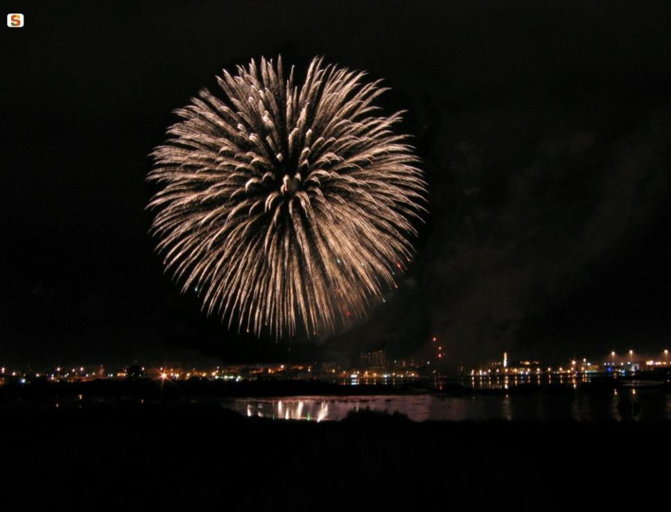 Capodanno, fuochi d'artificio - Olbia