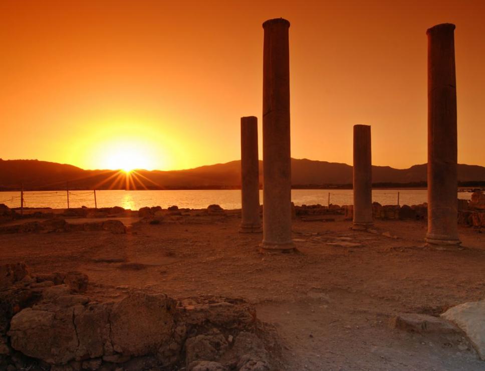 Tramonto sull'antica città di Nora - Pula