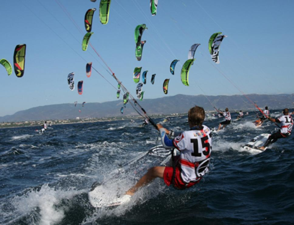 Kite surf nel golfo degli Angeli - Cagliari