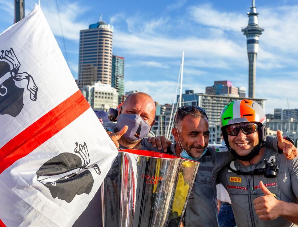 Festeggiamenti per vittoria in Prada Cup - Auckland 2021