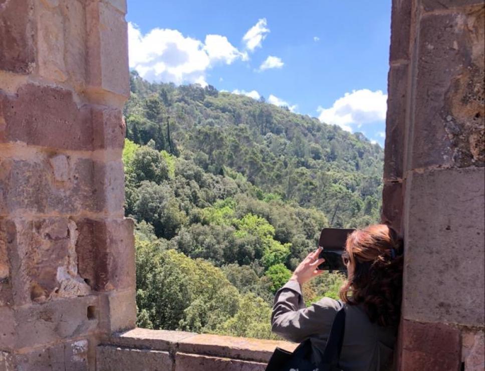 Panorama dal castello degli Aymerich - Laconi