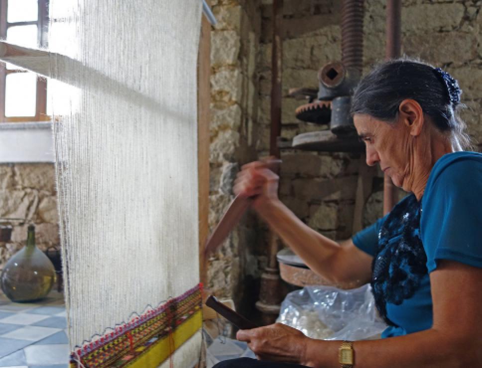 Tessitura al telaio - Sarule