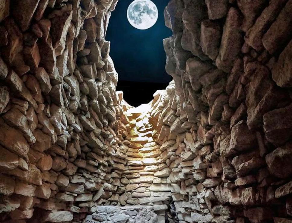La Luna dal nuraghe Su Mulinu - Villanovafranca