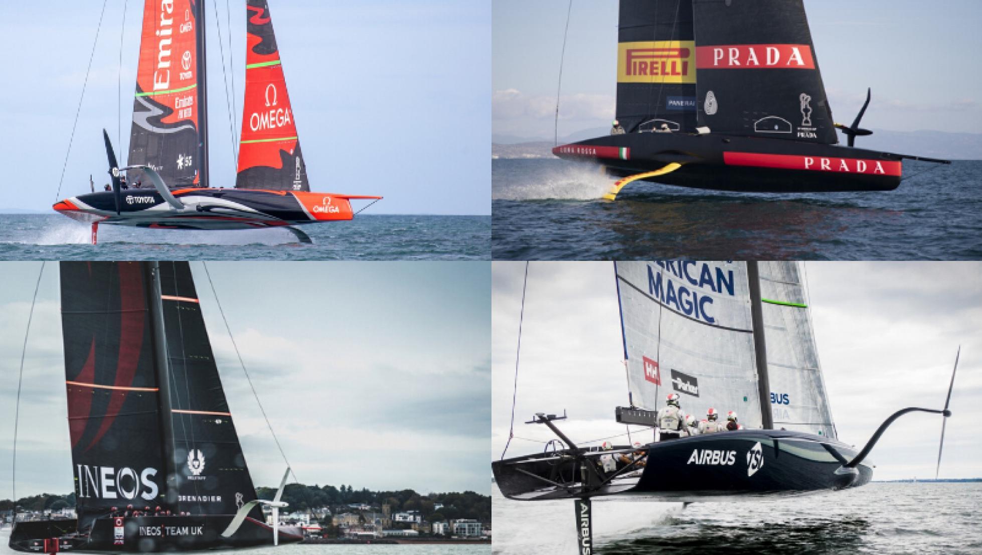 Le quattro barche partecipanti all'ACWS-Sardegna