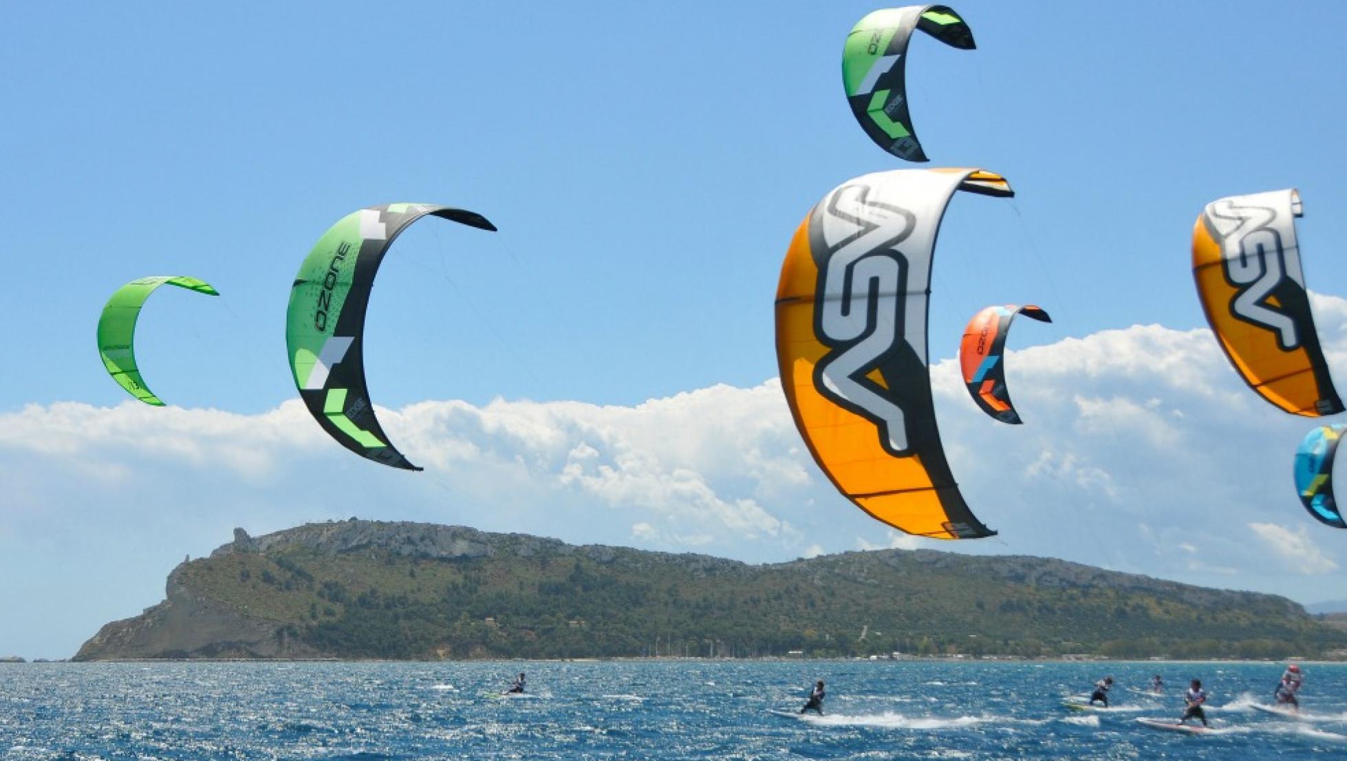Kitesurfer al Poetto - Cagliari