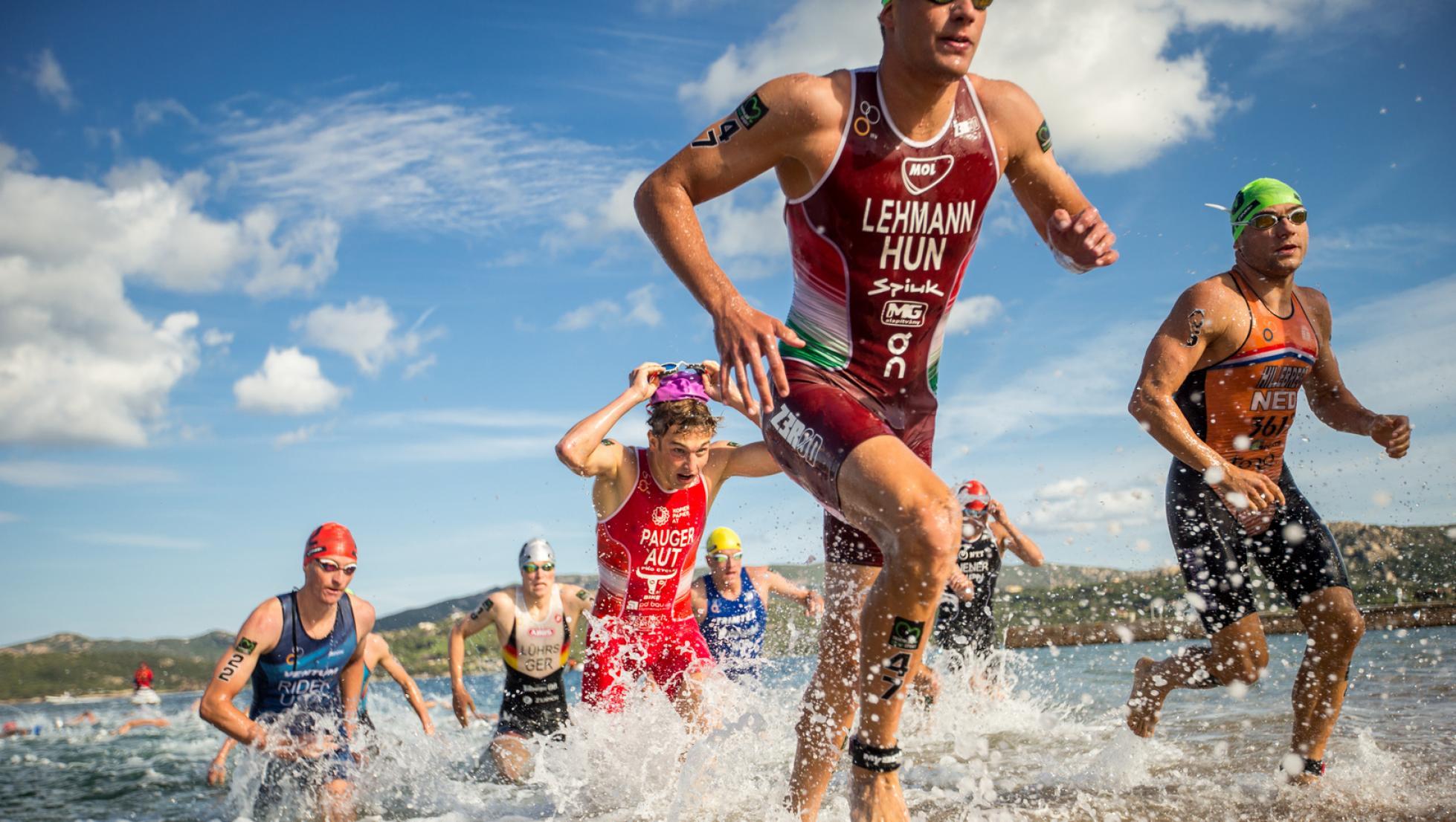 ITU World Cup - Arzachena 2020 - frazione maschile swimming