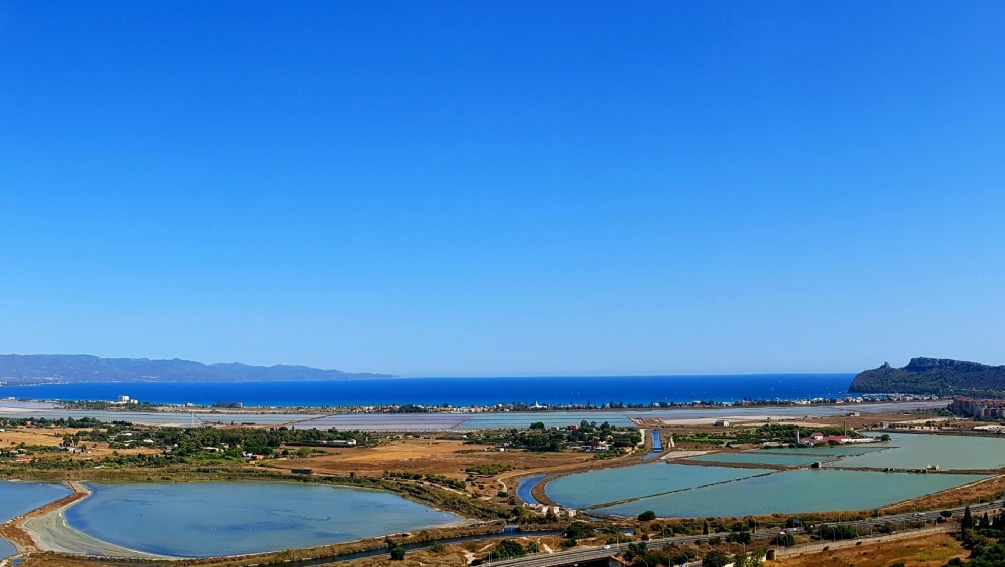 Parco Molentargius-Saline e Poetto visti da Monte Urpinu - Cagliari