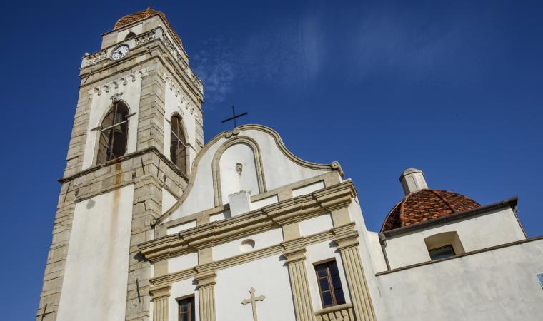 Parrocchiale di santa Barbara, facciata - Senorbì