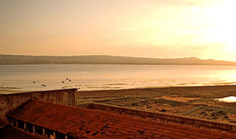 La laguna di Santa Caterina al tramonto