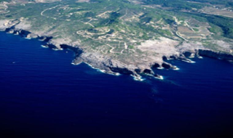 Veduta aerea di Punta delle Oche di San Pietro