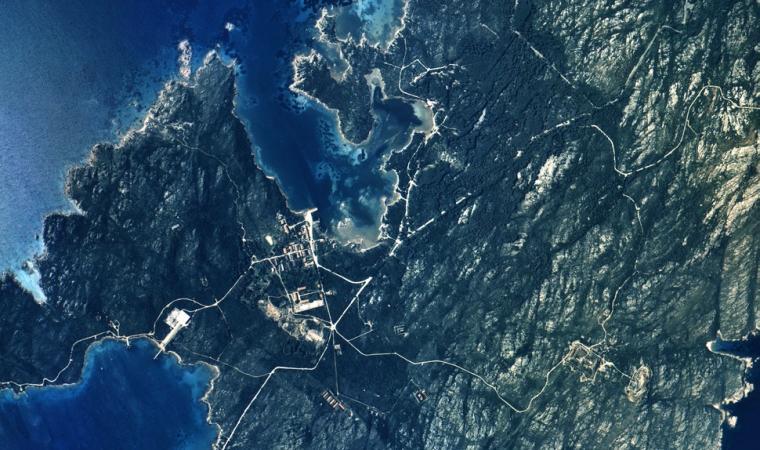 Foto area dell'isola di Caprera