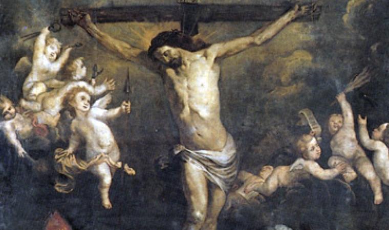 Orazio de Ferrari, Crocifissione. Chiesa di Sant'Agata