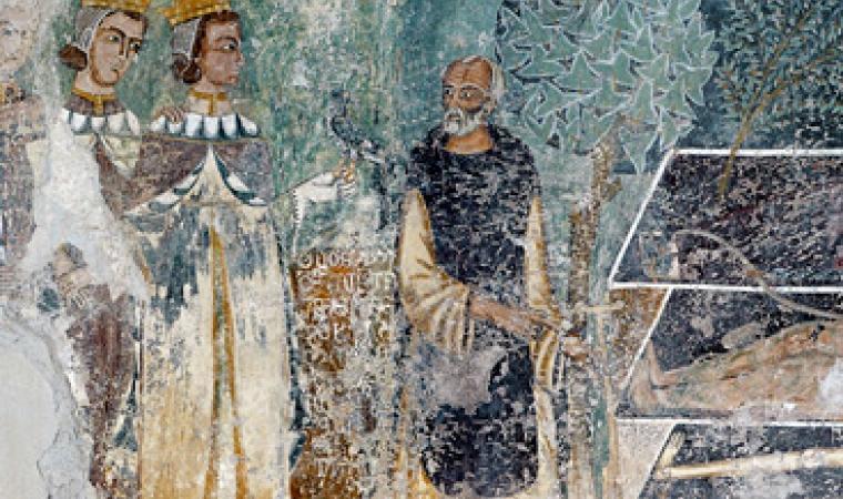 Bosa, chiesa di Nostra Signora de sos Regnos Altos: affresco