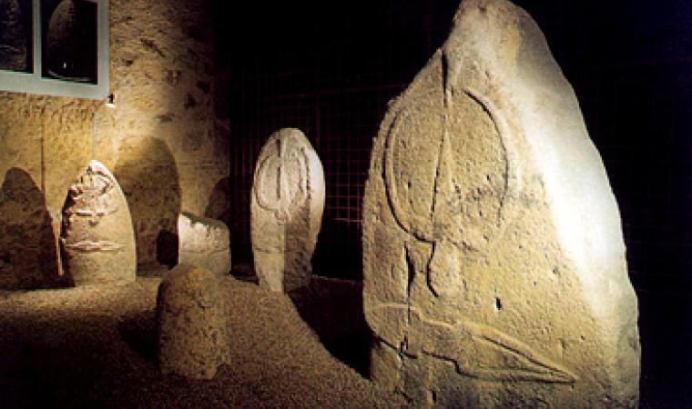 Statue-menhir nel Museo archeologico di Laconi