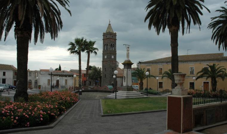 Piazza Martiri e Chiesa di san Sebastiano - Milis