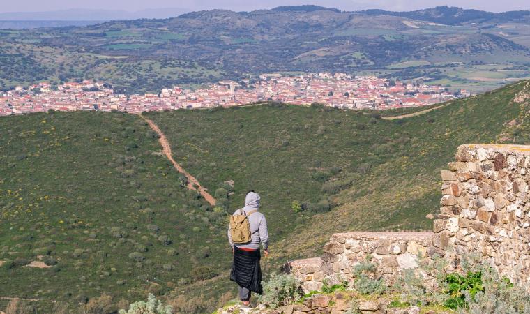 Sardara vista dal castello di Monreale