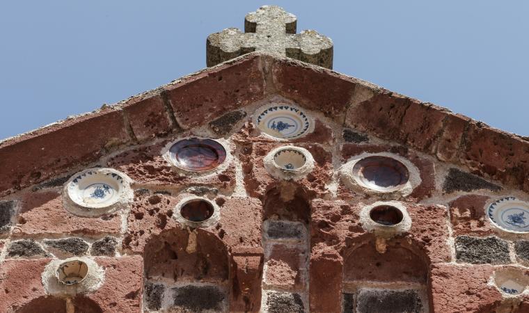 Nostra Signora di Bonacatu, dettaglio facciata - Bonarcado