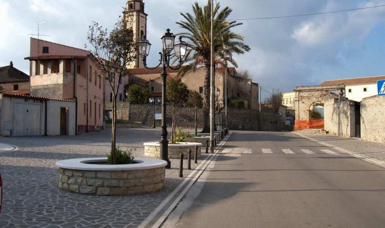 Masullas, Piazza Pinna