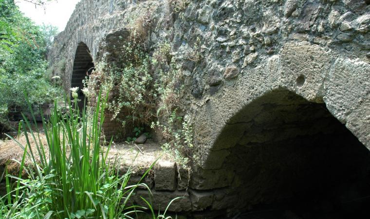 Tramatza, il ponte sul fiume Cispiri; The Bridge on the Cispiri River, Tramatza
