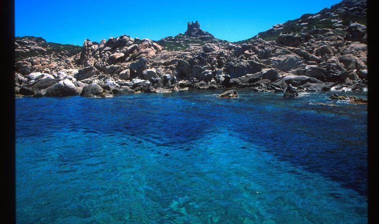 Isola di Serpentara, i colori del mare