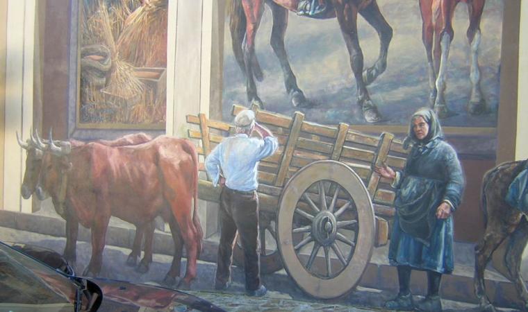Cossoine, un murales del centro; Murals in the centre of Cossoine