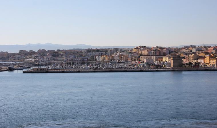 Veduta di Porto Torres, il porto