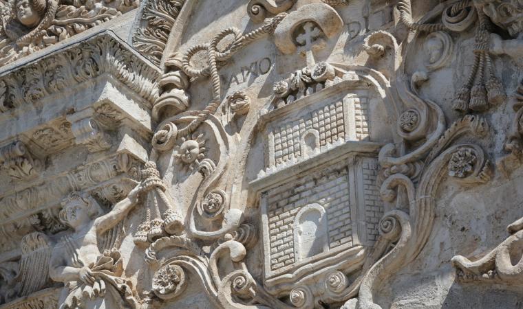 Cattedrale di San Nicola, particolare della facciata - Sassari