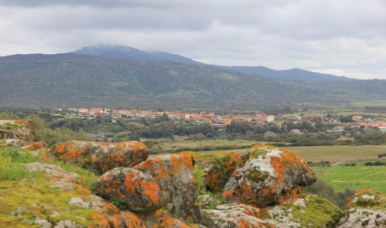 Veduta di Villanova Truschedu
