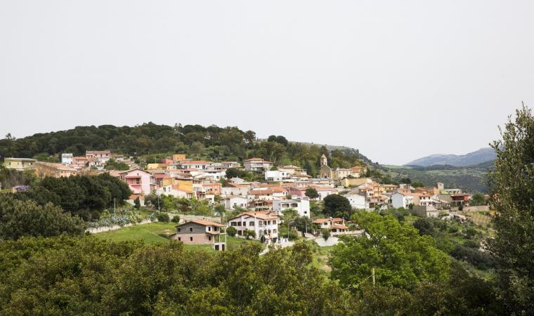 Veduta di Villanova Tulo
