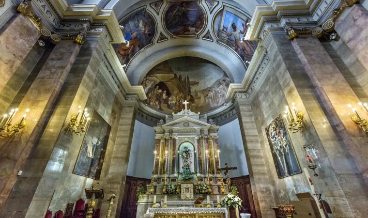 Chiesa di san Giuseppe, interni - Sassari