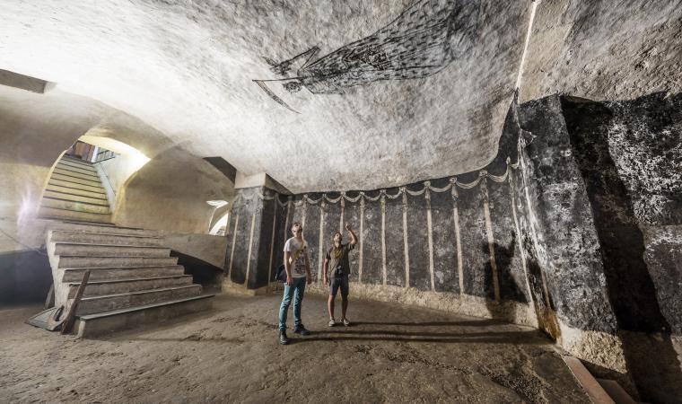 Cripta di san Sepolcro, camera voltata a botte
