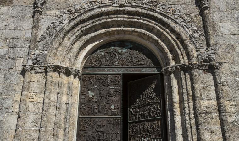 Chiesa sant'Andrea, particolare - Giave