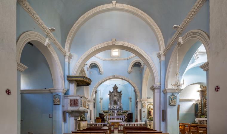 Parrocchiale di santa Barbara, interno - Senorbì