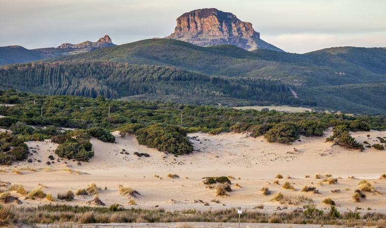Monte Arcuentu, vista da Piscinas