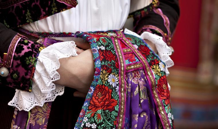Cavalcata sarda, dettaglio abito tradizionale