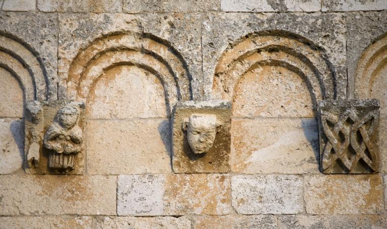 Chiesa di santa Maria, dettaglio facciata - Uta
