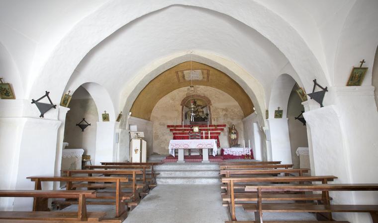 Chiesa di san Giorgio, interno - Lodine