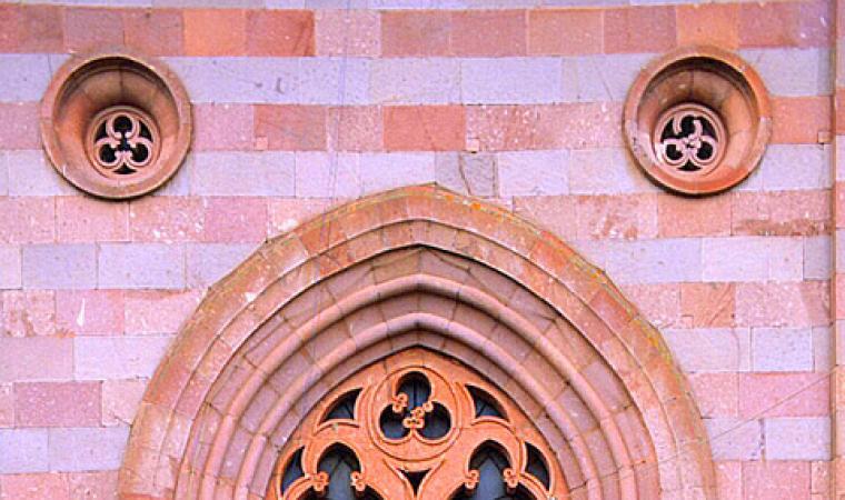 Chiesa san Pietro apostolo, particolare facciata