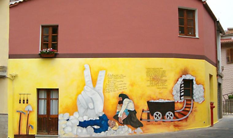 Murales centro storico - Fluminimaggiore