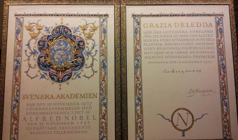 Premio Nobel per Grazia Deledda - Nuoro