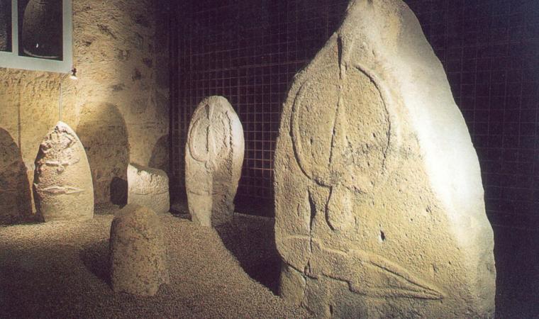 Menhir nel Museo delle statue - Laconi