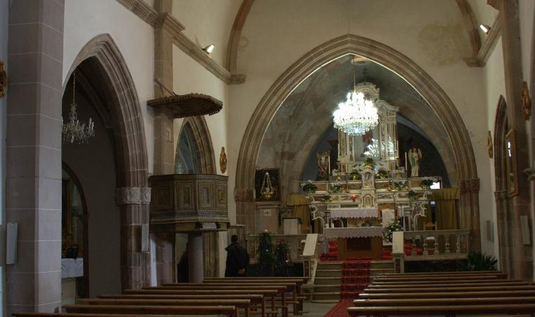 Chiesa di san Sebastiano, interno - Samugheo