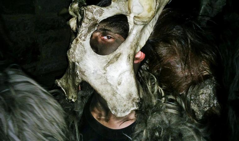 Aiunu orriadore, dettaglio maschera - Scano di Montiferro