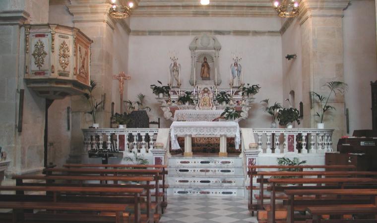 Parrocchiale di san Nicola, altare maggiore - Simala