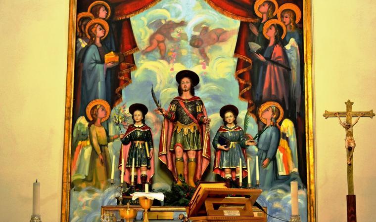 altare - santuario di san Lussorio - Selargius