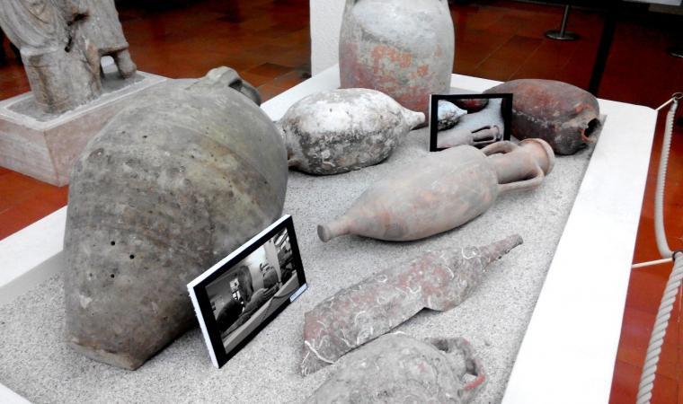 Turris Libisonis - Anfore nell'Antiquarium turritano