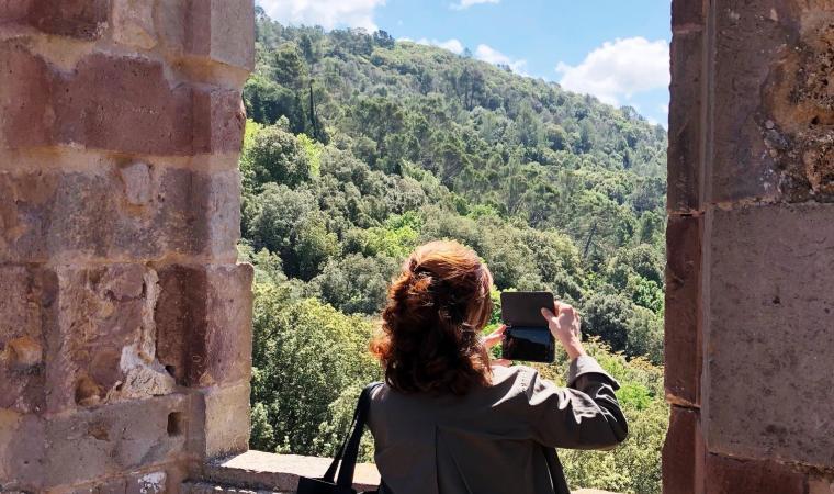 Veduta dal castello Aymerich