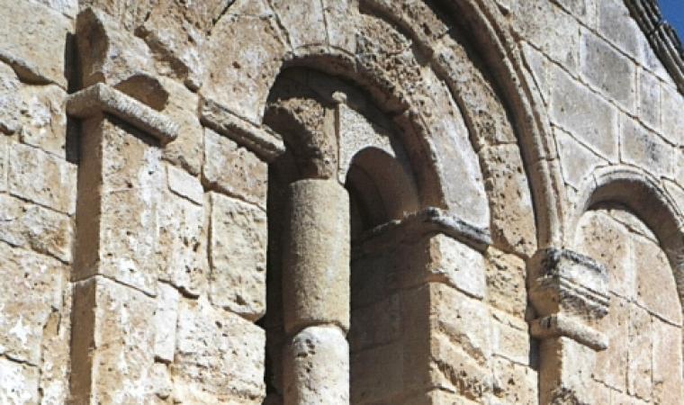 bifora - facciata santuario di san Lussorio - Selargius