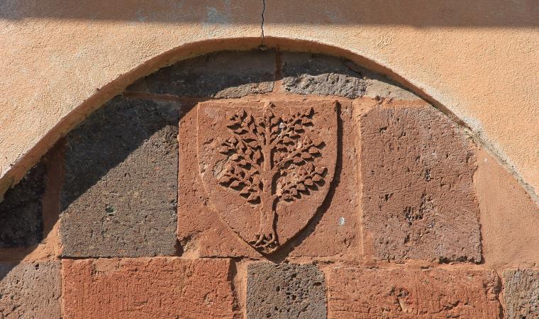 Chiesa di san Serafino, dettaglio facciata - Ghilarza